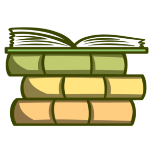 Stacked Book Clipart: stacked with open book