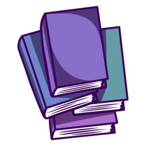 Stacked Book Clipart: messy stacked books