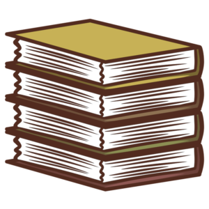 Stacked Book Clipart: organized yellow books