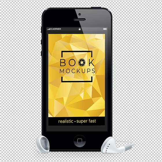transparent audio book mockup