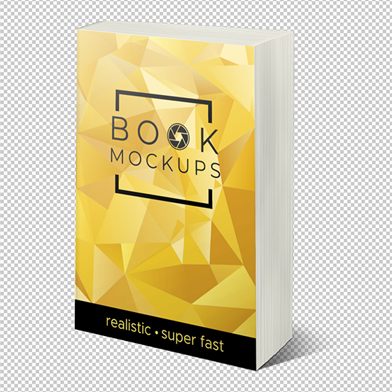 transparent paperback book mockup