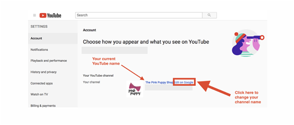 how to change your youtube name edit