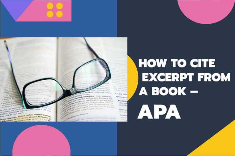 How To Cite Excerpt From A Book – APA