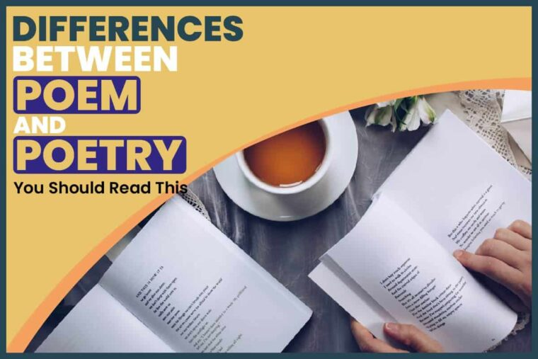 differences between poem and poetry